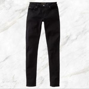 Nudie black denim skinny jeans 29